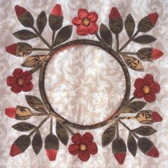 DVDs and Books on Baltimore Applique by Elly Sienkiewicz. Wool Applique, Applique Patterns, Applique Quilts, Applique Designs, Quilting Designs, Quilt Patterns, Patchwork Cushion, Hand Embroidery Flowers, Basket Quilt