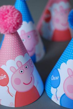 5 Peppa Pig George Pig Personalised Childrens by OrangePaperDuck Peppa E George, George Pig Party, Peppa Pig Birthday Cake, Birthday Party Hats, 3rd Birthday, Peppa Pig Pinata, Peppa Pig Birthday Decorations, Birthday Celebration, Peppa Pig Gifts