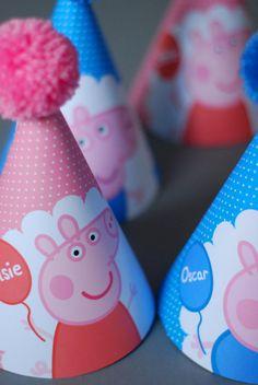 5 Peppa Pig George Pig personalizados por OrangePaperDuck en Etsy