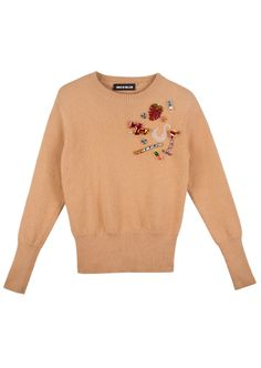 pop on a few ban.dos and you're all set! embellished angora jumper – house of holland