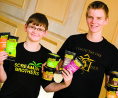 """Screamin Brothers Making Plenty of Noise"" from the Lethbridge Herald. #GlutenFree #DairyFree #DragonsDen #ScreaminBrothers"