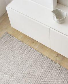 Sherpa Weave - Armadillo & co Grey Floor Tiles, Grey Flooring, Stone Bench, Natural Interior, Interior Decorating Styles, Wood Burner, Armadillo, Natural Rug, Built In Storage