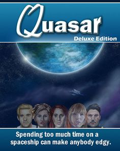Quasar is now available on FireFlower. In this short adventure game, you control four different characters as they explore the ship, each with their own skills and reactions to the environment. Instead of on puzzle solving, the game focuses on the personalities of the characters and their interactions. http://fireflowergames.com/shop/quasar/