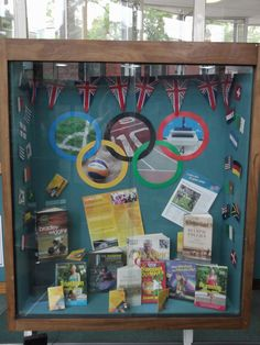 Olympics display at Jesmond Library
