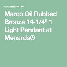 Katarina 18 oil rubbed bronze 3 light 3000k 850 lumen led dimmable marco oil rubbed bronze 14 14 1 light pendant at menards aloadofball Gallery