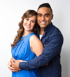 All Black Francis Saili and partner Carley Eklund Black Francis, Womans Weekly, Exciting News, Scrubs, All Black, Dishes, Celebrities, Tops, Women