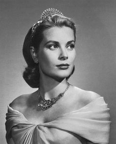Princess Grace of Monaco in her Dior gown ~ photo by Karsh ~ gown on display at McCord Museum until Oct 6/13. #RoyalTiara