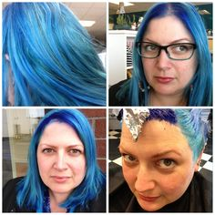 Aquatic - Blue hair for summer 2013. My colorist used Pravana Chromasilk Vivid Blue and Pastel Blissful Blue dyes for this multi-toned blue. Hair bleached to pale blonde. #pravana #blue #bluehair