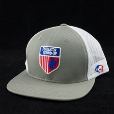 Gray and white snapback Hooey hat with Pendleton Round-Up logos embroidered  in red 2004b3b5ef9