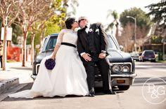 Lowrider Bride & Groom, B Photography Los Angeles Wedding Photographers