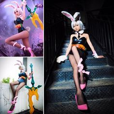 Cute League of legends Riven cosplay by 啾小妍SAMA⠀ #cosplayclass #leagueoflegends #cosplay
