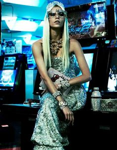 """Glamorous Gamer"" Vogue Japan April 2012 featuring Aline Weber"