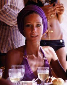 Marisa Berenson  Purple turban