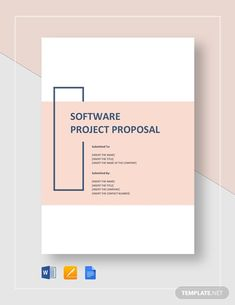 Impress potential investors and sponsors with a well-written software project proposal to bring your brilliant ideas to life. Project Proposal Example, Project Proposal Template, Business Proposal Template, Proposal Templates, Word Template Design, Booklet Design, Word Design, Brochure Design, Cover Page Template Word