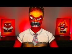 INSIDE OUT ANGER MAKEUP TUTORIAL! (Disney's Pixar Cosplay) - YouTube
