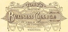 Antique Graphics Wednesday - 1919 Fancy Business College Logo - Knick of Time