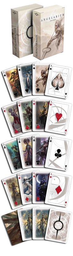 Playing cards based on Pete Morbacher's Angelarium project by Albino Dragon. Available now on www.albinodragon.com.