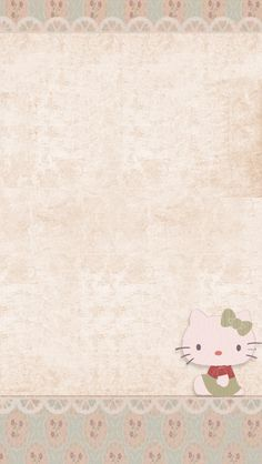 ❤LOve Pink~: Hello Kitty Pink Lace & Flowers Wallpaper❤ #sanrio