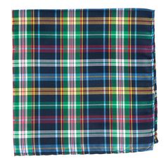 CORRIGAN PLAID POCKET SQUARES - NAVY | Ties, Bow Ties, and Pocket Squares | The Tie Bar