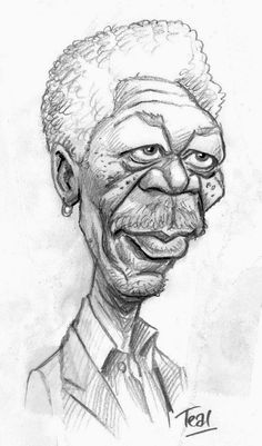 Another old caricature - God impersonator, MORGAN FREEMAN: