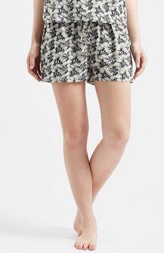 Women's Topshop 'Molly' Daisy Print Pajama Shorts