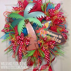Spring / Summer Mesh Wreath on Etsy, $109.00