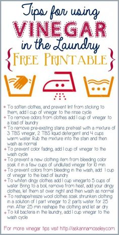 Tips for using Vinegar in the Laundry  - Ask Anna