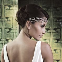 Marcia - Ivory and co Head piece. Available at Nell'Amore Bridal Wear
