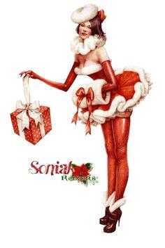 Pin Up Santa By Sk by soniakr.deviantart.com on @DeviantArt