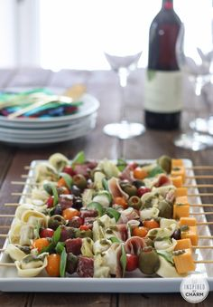 Antipasto Kabobs | Inspired by Charm