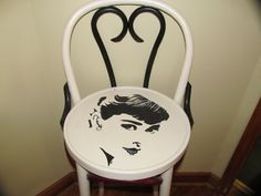 Audrey bar stool painted by Amber Patrick