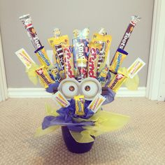 Minion candy bouquet