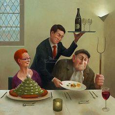 Marius van Dokkum, Dutch Artist and Illustrator (wrong service) Illustrations, Illustration Art, Dutch Painters, Pablo Picasso, Dutch Artists, Naive Art, Couple Art, Funny Art, Figure Painting