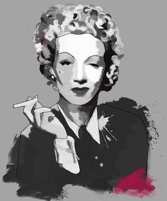 Marlene Dietrich, Tinted Style | http://www.yourpainting.de/motive-artikel/marlene-dietrich