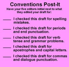 conventions post it