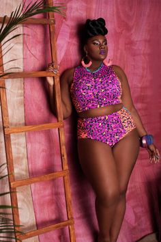 SWIMSUIT ~African fashion, Ankara, kitenge, African women dresses, African prints, Braids, Nigerian wedding, Ghanaian fashion, African wedding ~DKK