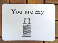 You are my Heroin von Henri Banks auf DaWanda.com     eine Karte für all meine Freunden !!!!  A Card for all my Friends