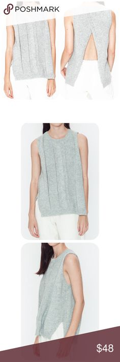 Open Back Sleeveless Top Beautiful and very soft open Back Sleeveless Top. Color is a very light gray. Different sizes available. Boutique Tops