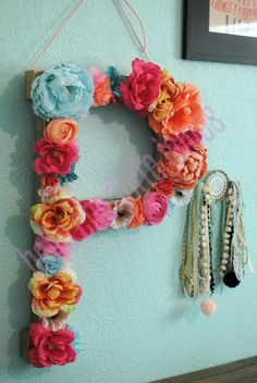Custom 24 Floral Letter // Nursery decor by HelloCharlotteJames