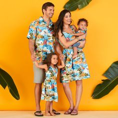12e6e107b The perfect family outfit for visiting Aulani! Mickey Mouse and Friends  Hawaiian dresses and shirts
