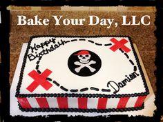 Pirate Birthday Cake -Bake Your Day, LLC, Alexandria, LA, (318)229-0299, www.facebook.com/bakeyourdayllc, bakeyourdayllc@hotmail.com