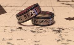 8mm Stainless Steel with Black Trim Fashion Ring by NameItAlready
