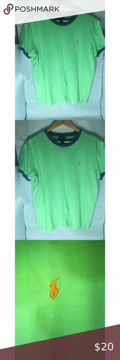 Ralph Lauren Polo Tee Mens Sz Med Crew neck You are viewing a a Ralph Lauren Polo Classic Tee Crew neck Men's Sz Medium ; lime green with orange embroidered horse on breast. Excellent like new Please view all pics and ask any questions you may have prior to making a bid, offer, or purchase. The item in the pictures is the EXACT item you will receive if placing an order. Please do not hesitate to ask any questions or make offers !! I will accept almost all REASONABLE offers !! Thanks so much… Polo Classic, Polo Tees, Crew Neck, Polo Ralph Lauren, Lime, Breast, Horse, Man Shop, Orange