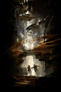 Time Salvager by Wesley Chu. Cover Art by Richard Anderson. Fantasy Places, Fantasy Art, Richard Anderson, Environment Concept Art, Science Fiction Art, Future City, Sci Fi Art, Cover Art, Illustration Art