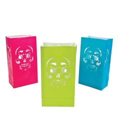 Day Of The Dead Luminary Bags - OrientalTrading.com