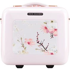 Ted Baker Oriental Blossom Vanity Case (€165) ❤ liked on Polyvore featuring beauty products, beauty accessories, bags & cases, bags, beauty, filler, pink and ted baker