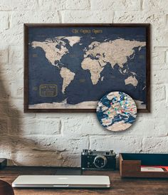 Image 0 push pin travel map world executive style . Executive Fashion, Executive Style, Globe Guest Books, Annie Wilson, Marks Place, Painted Globe, World Globes, December 12, Travel Maps