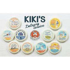 ムービック魔女の宅急便 缶バッジコレクション ミルクキャップ: キャラグッズmovic Identity Design, Logo Design, Food Packaging Design, Badge Design, Photoshop Design, Vintage Labels, Cute Illustration, Design Reference, Graphic Design Inspiration