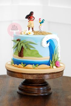 Based on a design by Cake Heaven by Marlene Hawaii Cake, Custom Cakes, Bakery, Desserts, Moana, Inspiration, Heaven, Food, Design