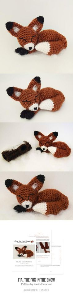 Fia, the Fox in the Snow amigurumi pattern
